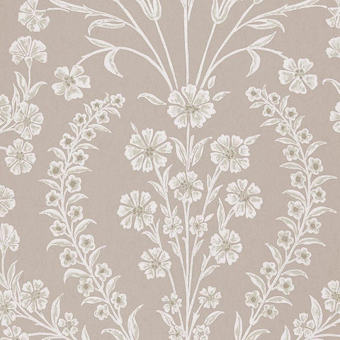 Chelwood Wallpaper in Dove Grey from the Ashdown Collection by Nina Campbell for Osborne & Little