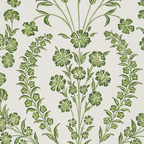 Chelwood Wallpaper in Green from the Ashdown Collection by Nina Campbell for Osborne & Little
