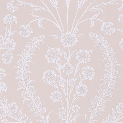 Chelwood Wallpaper in Pink from the Ashdown Collection by Nina Campbell for Osborne & Little