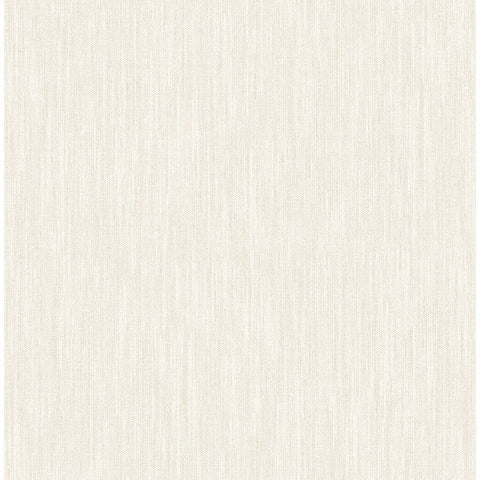 Chenille Faux Linen Wallpaper in Off-White from the Bluebell Collection by Brewster Home Fashions