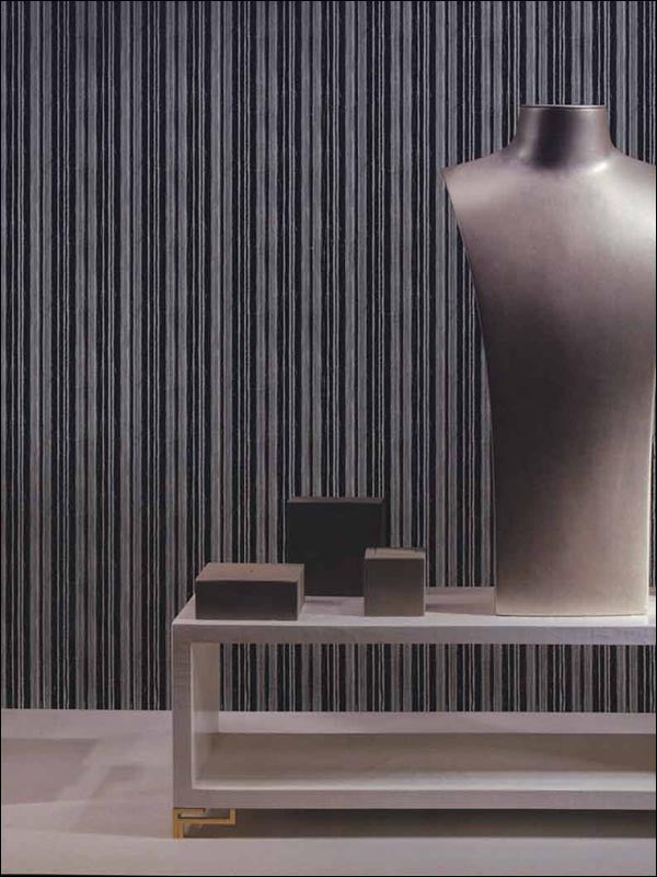 Chenille Stripe Wallpaper from the Indulgence Collection by Burke Decor
