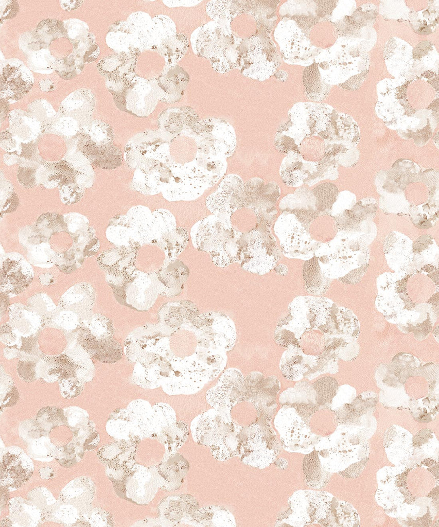 Sample Cherry Blossom Wallpaper in Blush from the Shibori Collection by Milton & King
