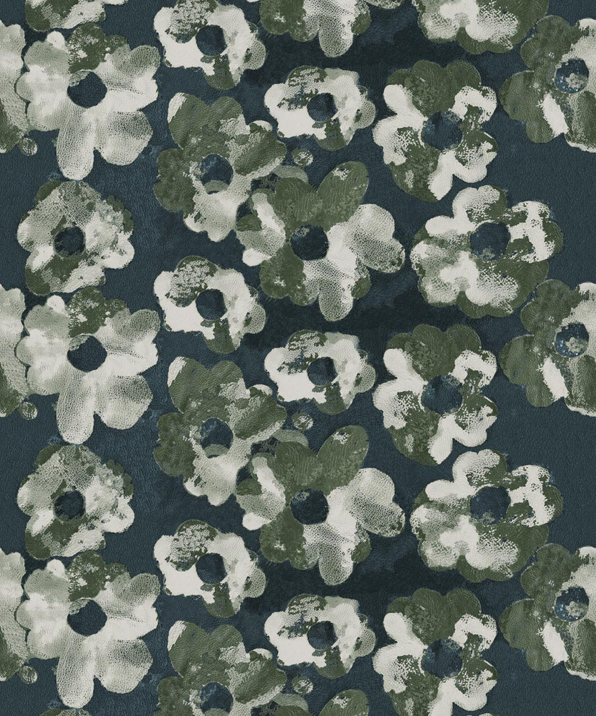 Cherry Blossom Wallpaper in Night from the Shibori Collection by Milton & King