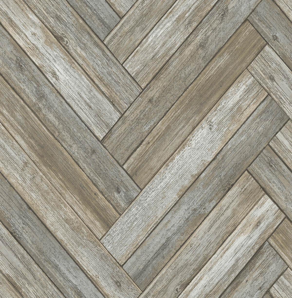 Chevron Wood Peel And Stick Wallpaper In Taupe And Beige By Nextwall Burke Decor
