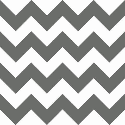 Chevron Sidewall Wallpaper in Black from the A Perfect World Collection by York Wallcoverings