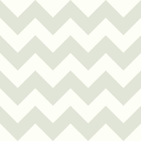 Chevron Sidewall Wallpaper in Grey from the A Perfect World Collection by York Wallcoverings