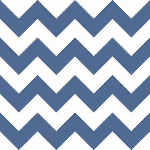 Chevron Sidewall Wallpaper in Navy from the A Perfect World Collection by York Wallcoverings