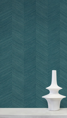 Chevy Hemp Wallpaper in Palmetto from the More Textures Collection by Seabrook Wallcoverings