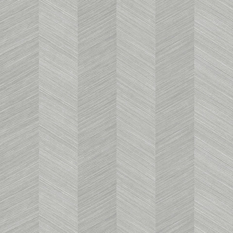 Chevy Hemp Wallpaper in Salt Glaze from the More Textures Collection by Seabrook Wallcoverings