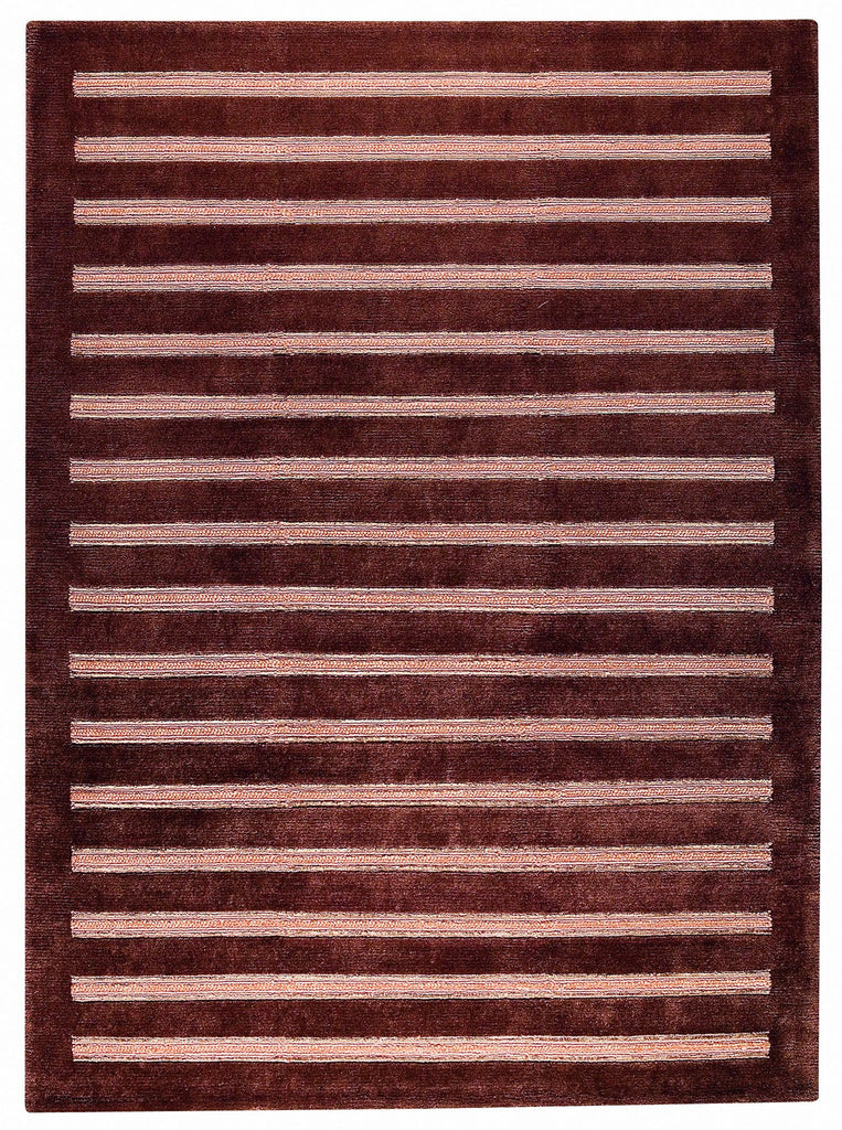 Chicago Collection Wool and Viscose Area Rug in Brown design by Mat the Basics