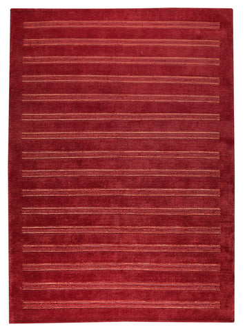 Chicago Collection Wool and Viscose Area Rug in Red design by Mat the Basics