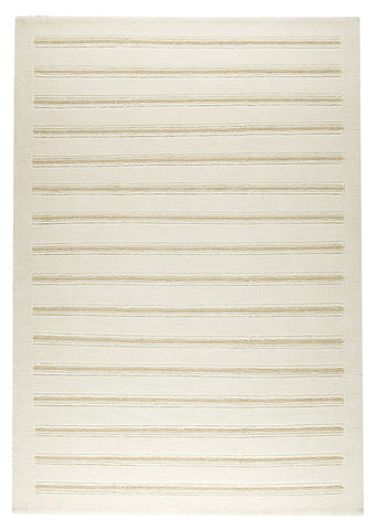 Chicago Collection Wool and Viscose Area Rug in White design by Mat the Basics