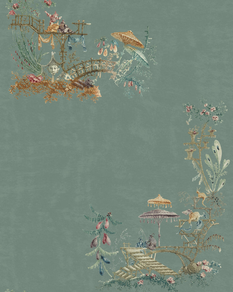Chinoiserie Wallpaper in Blue from the Wallpaper Compendium Collection by Mind the Gap