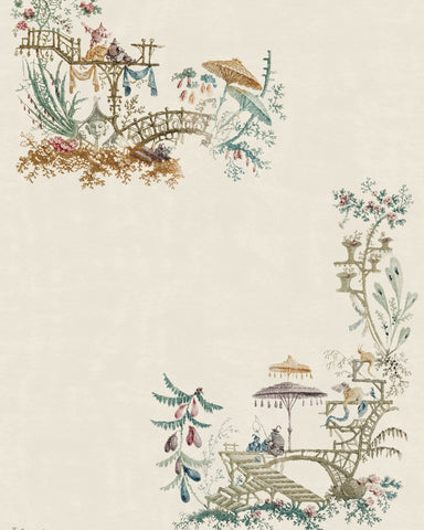 Chinoiserie Wallpaper in Coconut from the Wallpaper Compendium Collection by Mind the Gap