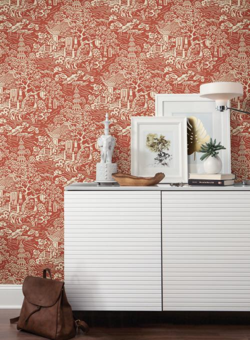 Chinoiserie Wallpaper from the Tea Garden Collection by Ronald Redding for York Wallcoverings