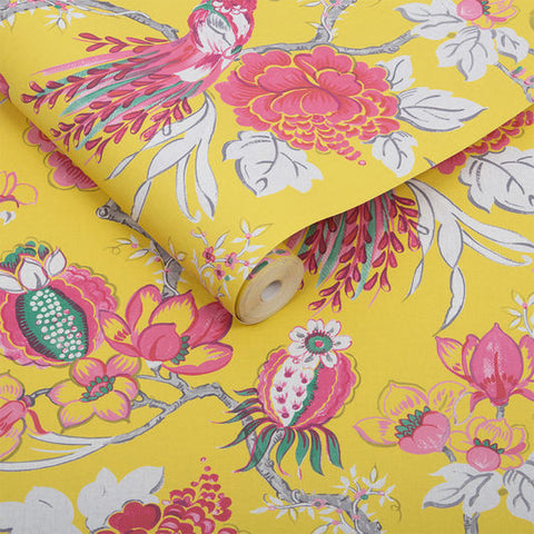 Chinoiserie Wallpaper in Canary from the Exclusives Collection by Graham & Brown