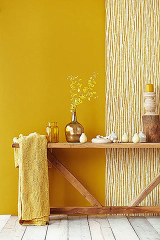 Chios Golden Green Stripe Wallpaper from the Savor Collection by Brewster Home Fashions