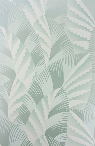 Chrysler Wallpaper in Pale Duck Egg and Ivory from the Fantasque Collection by Osborne & Little