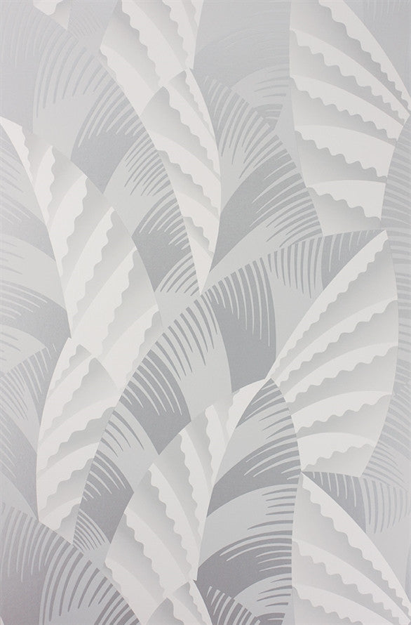 Chrysler Wallpaper in Pale Silver and Ivory from the Fantasque Collection by Osborne & Little