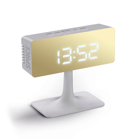 Cinemascape Alarm Clock in White and Gold