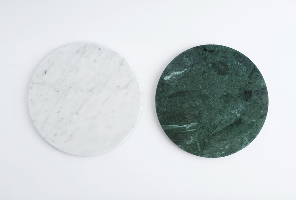Circle Marble Platter in Green design by FS Objects