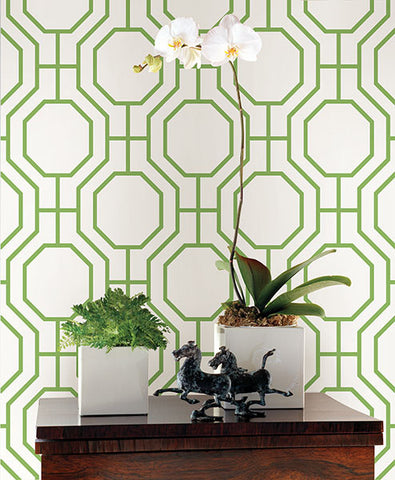 circuit green modern ironwork wallpaper from the symetrie collection by brewster home fashions