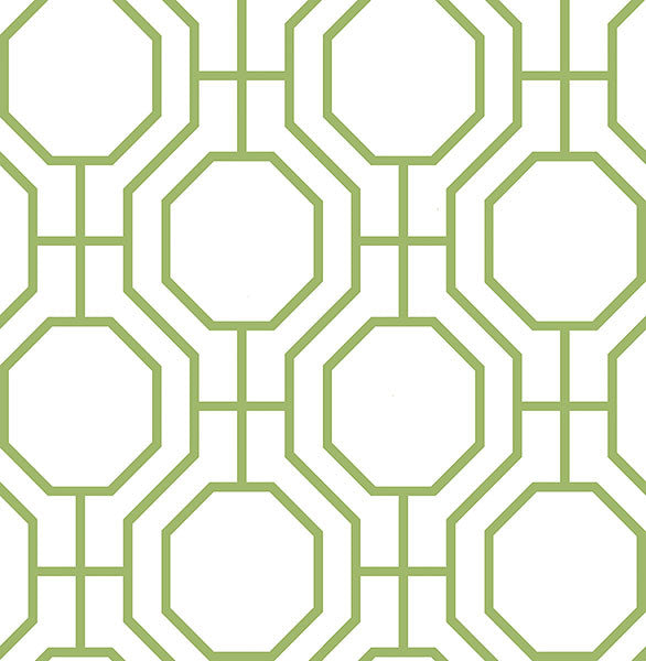 Sample Circuit Green Modern Ironwork Wallpaper from the Symetrie Collection by Brewster Home Fashions