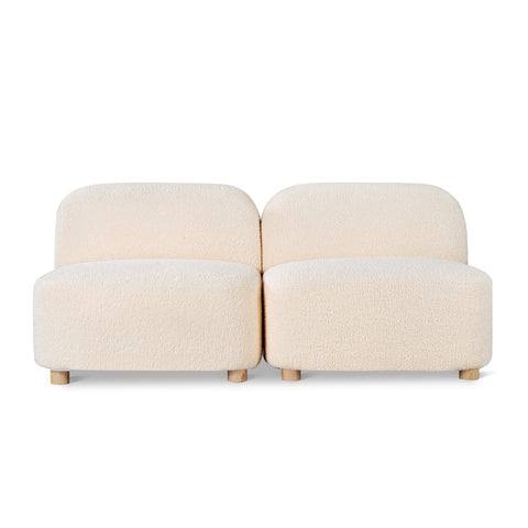 Circuit Modular 2 Piece Armless Sofa by Gus Modern