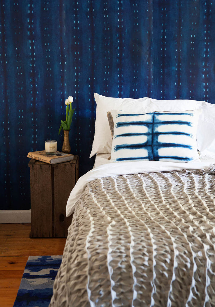 City Scape Wallpaper in Night from the Shibori Collection by Milton & King