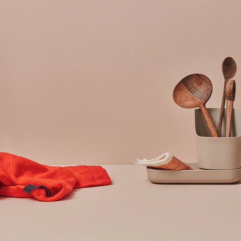 Claro Bamboo Sink Caddy Organizer in Various Colors design by EKOBO