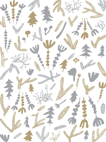 Cle Elum Wallpaper in Cream, Silver, and Gold design by Juju