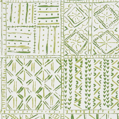 Cloisters Wallpaper in Green from the Ashdown Collection by Nina Campbell for Osborne & Little