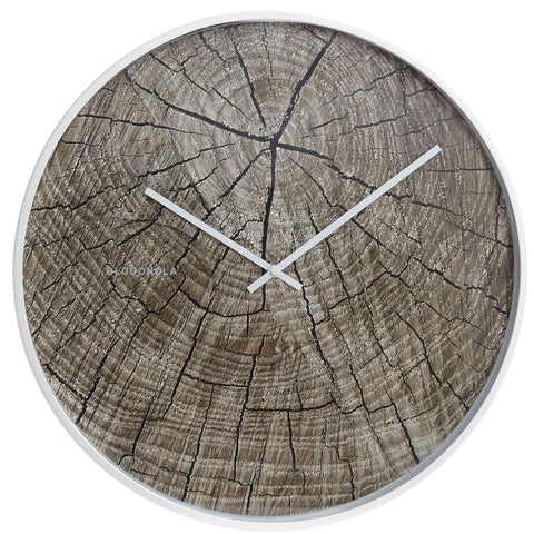 Structure Wood Wall Clock