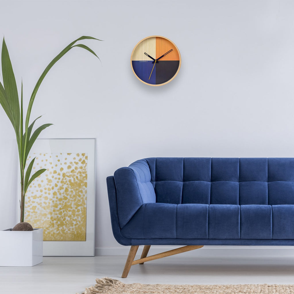 Flor Blue Wall Clock