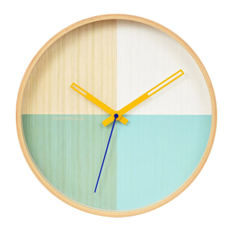 Flor Turquoise Wall Clock