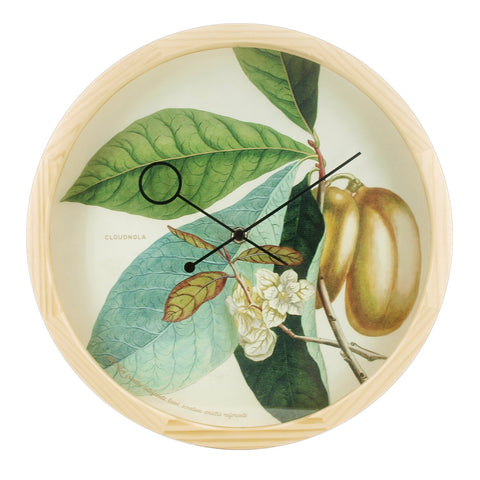Botanical Anona Plant Wall Clock