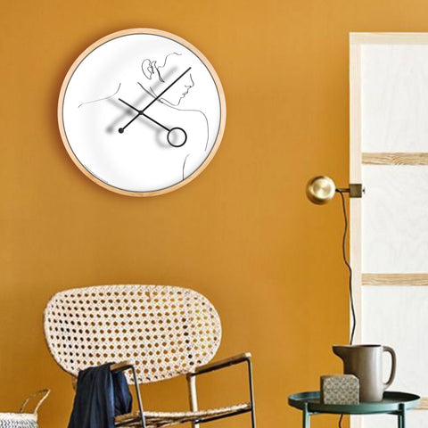 Line Art Flirt Wall Clock