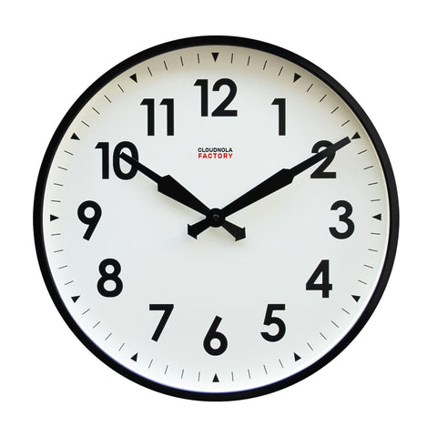 Factory Wall Clock Black Numbers by Cloudnola