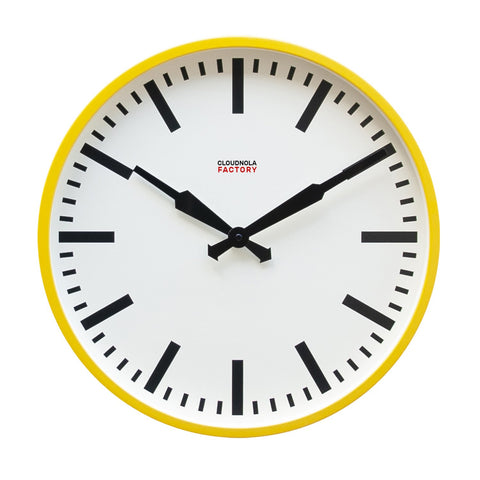 Factory Ochre Yellow Station Clock
