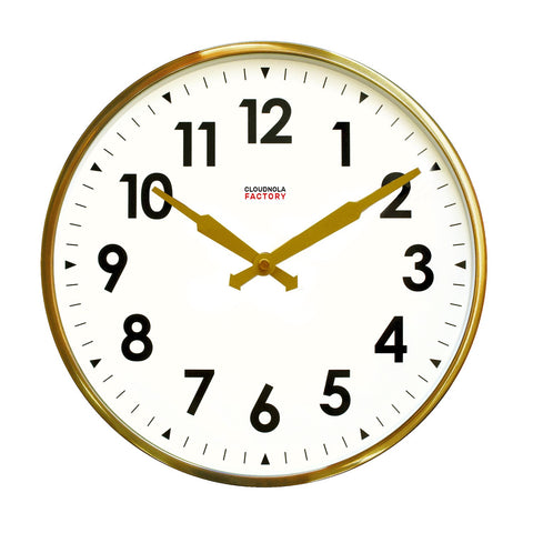 Factory Brushed Gold Number Clock