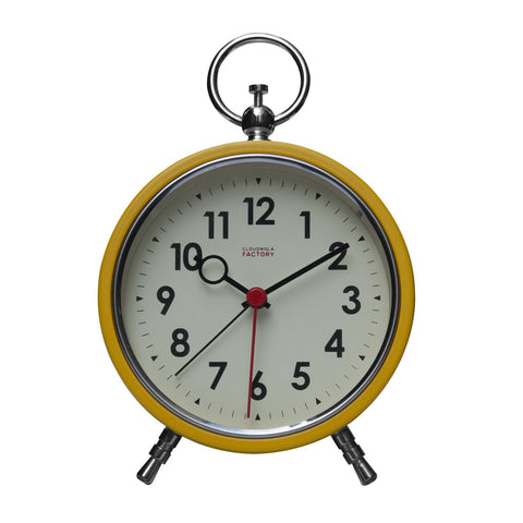 Factory Ochre Yellow Numbers Alarm Clock
