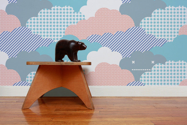 Clouds Wallpaper in Sunshine design by Aimee Wilder