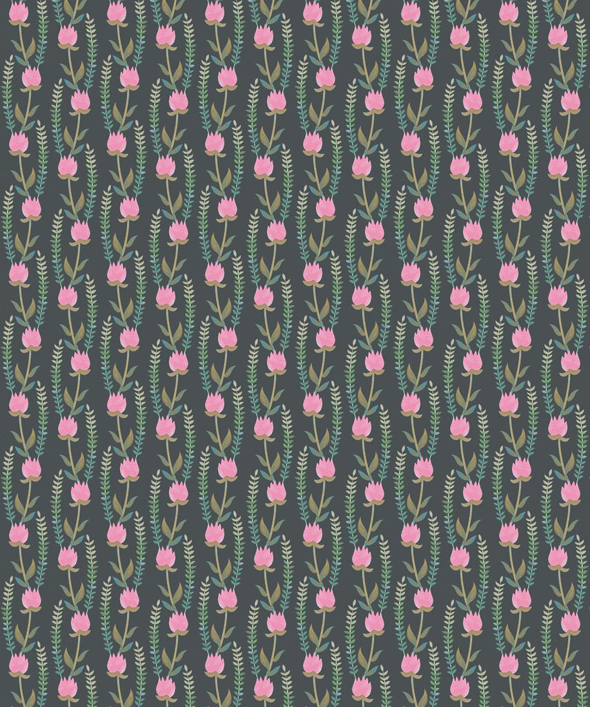 Sample Clover Fields Wallpaper in Spring Pink from the Wallpaper Republic Collection by Milton & King