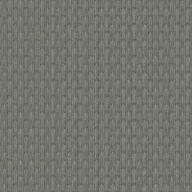 Sample Club Diamond Wallpaper in Grey and Brown from the Deco Collection by Antonina Vella for York Wallcoverings