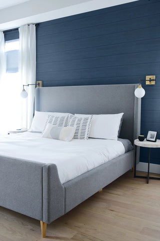 Coastal Blue Shiplap Peel-and-Stick Wallpaper by NextWall