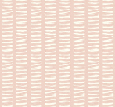 Coastline Wallpaper in Pink Sunset from the Beach House Collection by Seabrook Wallcoverings