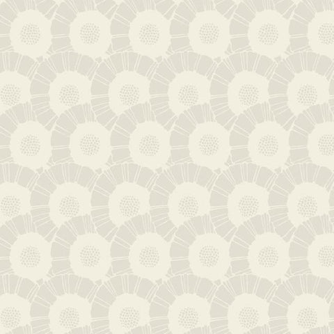 Coco Bloom Wallpaper in Beige Pearlescent from the Deco Collection by Antonina Vella for York Wallcoverings