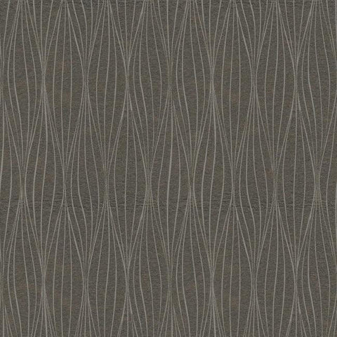 Cocoon Wallpaper in Silver and Charcoal by Antonina Vella for York Wallcoverings