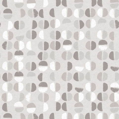 Coffee Beans Self-Adhesive Wallpaper in Stone Grey design by Tempaper