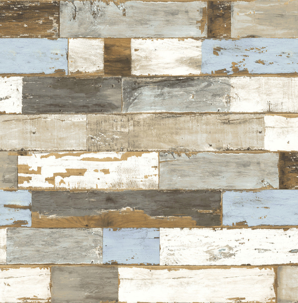 Sample Colorful Shiplap Peel-and-Stick Wallpaper by NextWall